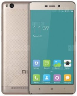 Xiaomi Redmi 3 16GB ROM 4G Smartphone - FASHION GOLDEN
