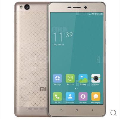 Xiaomi Redmi 3 16GB ROM 4G Smartphone - FASHION GOLDEN