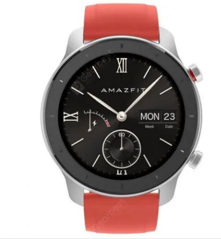 AMAZFIT GTR Smart Watch 42 mm 12 Days Battery Life 5ATM Waterproof Global Version - Red
