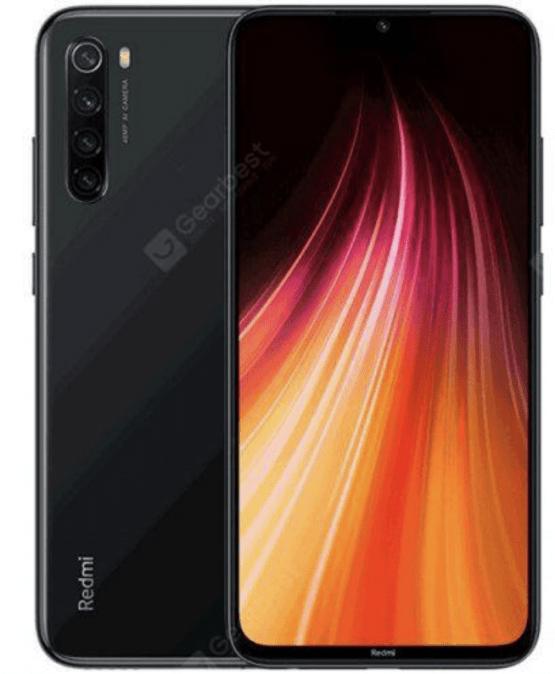 Xiaomi Redmi Note 8 4G Smartphone 6.3 inch Snapdragon 665 Octa Core 4 GB RAM 128 GB ROM - Black