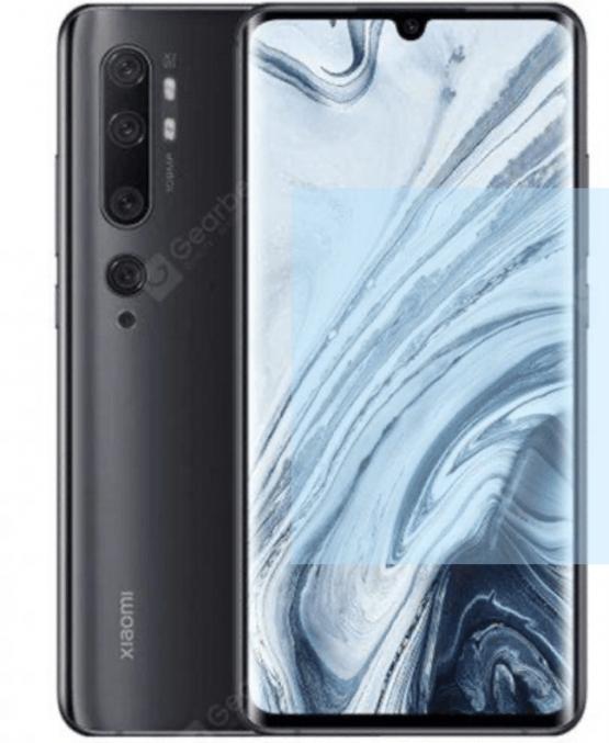 Xiaomi Mi Note 10 6 GB 128 GB 108MP Camera Mobile Phone Global Version Smartphone - Black
